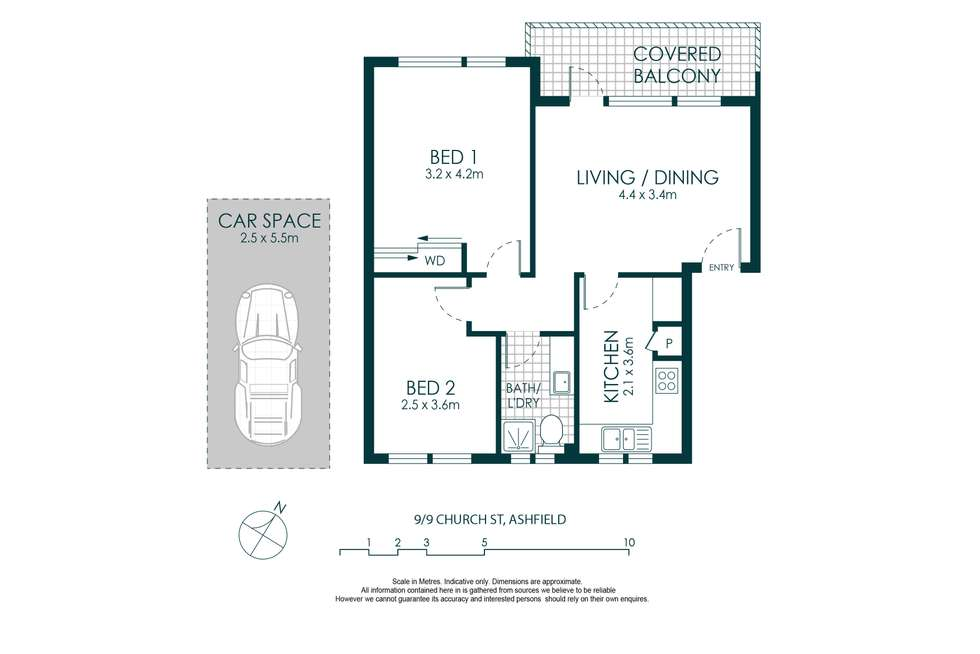 Floorplan of Homely apartment listing, 9/9 Church Street, Ashfield NSW 2131