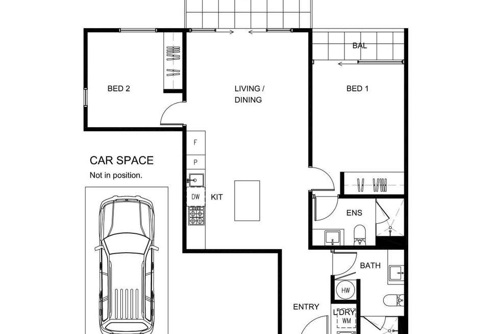 Floorplan of Homely apartment listing, 304/52 Dow Street, Port Melbourne VIC 3207