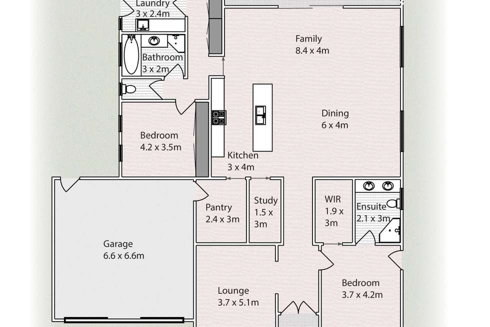 Floorplan of Homely horticulture listing, 2738 Eleventh Street, Nichols Point VIC 3501