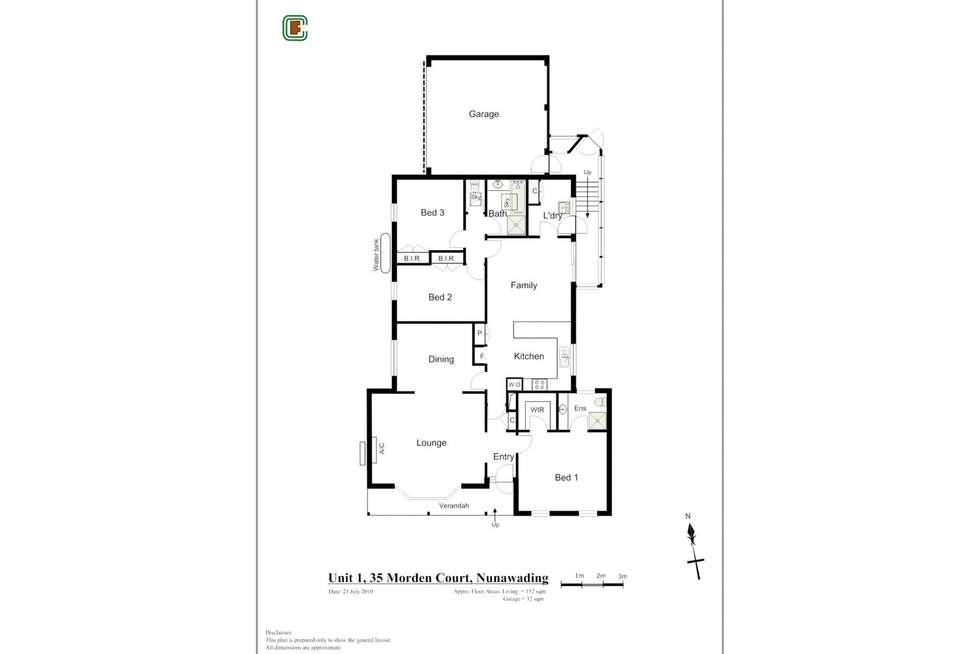 Floorplan of Homely unit listing, 1/35 Morden Court, Nunawading VIC 3131
