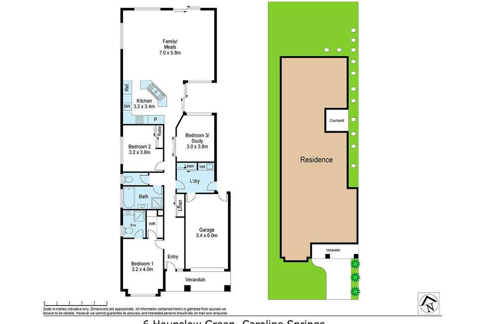 Floorplan of Homely house listing, 6 Hounslow Green, Caroline Springs VIC 3023