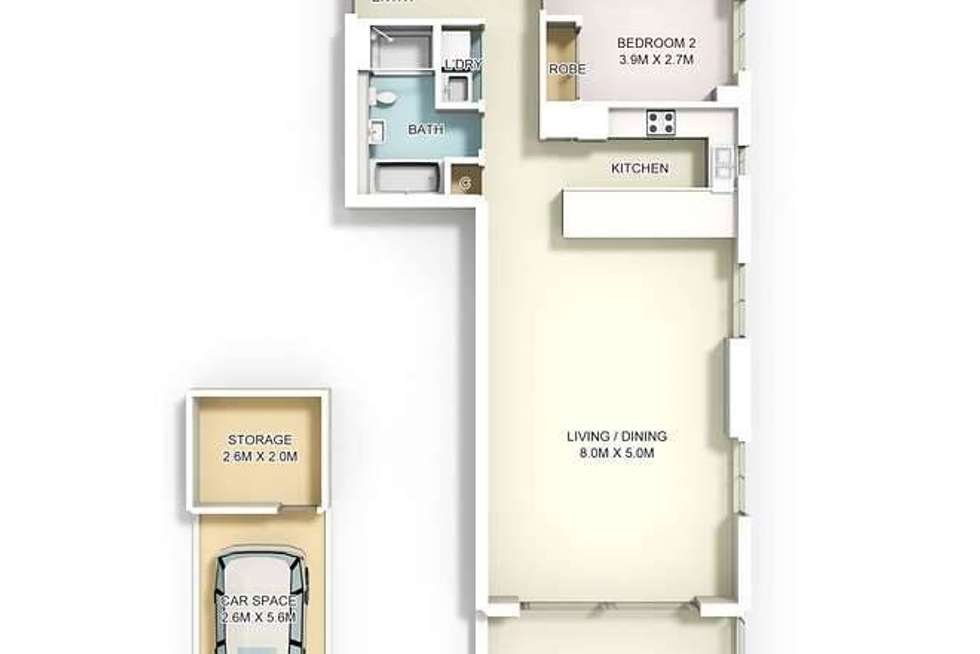 Floorplan of Homely apartment listing, 7/2A Edward Street, Ryde NSW 2112