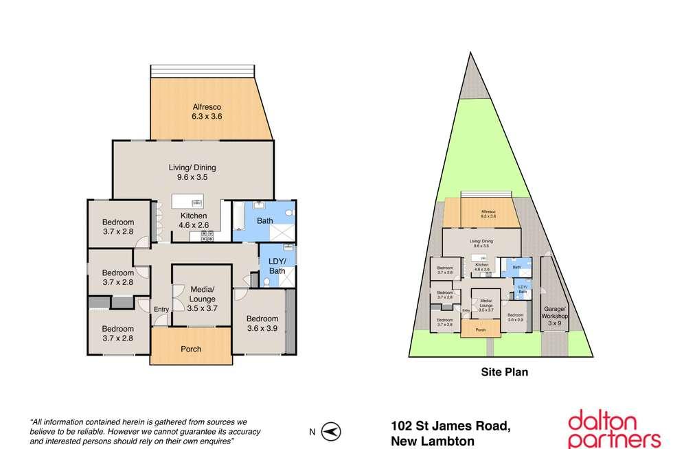 Floorplan of Homely house listing, 102 St James Road, New Lambton NSW 2305