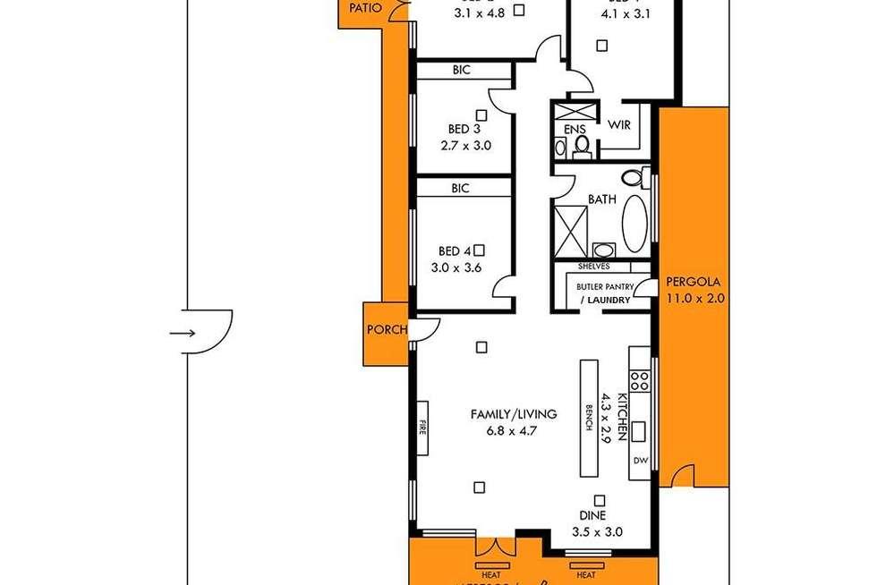 Floorplan of Homely house listing, 1 Florida Court, Panorama SA 5041