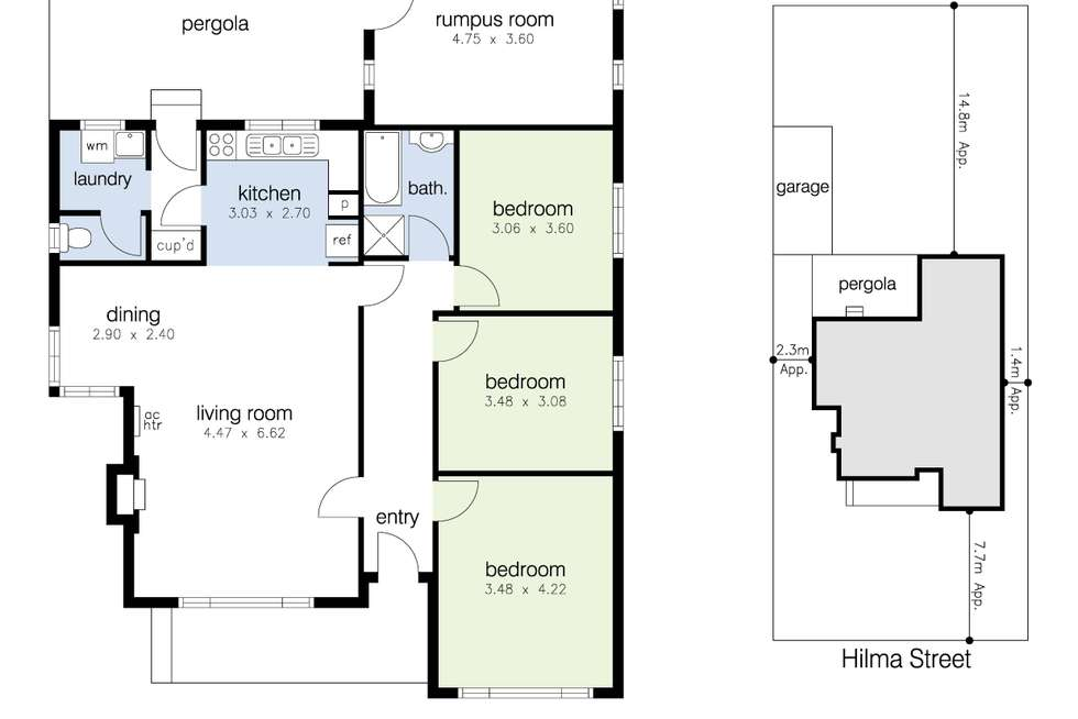 Floorplan of Homely house listing, 57 Hilma Street, Sunshine West VIC 3020