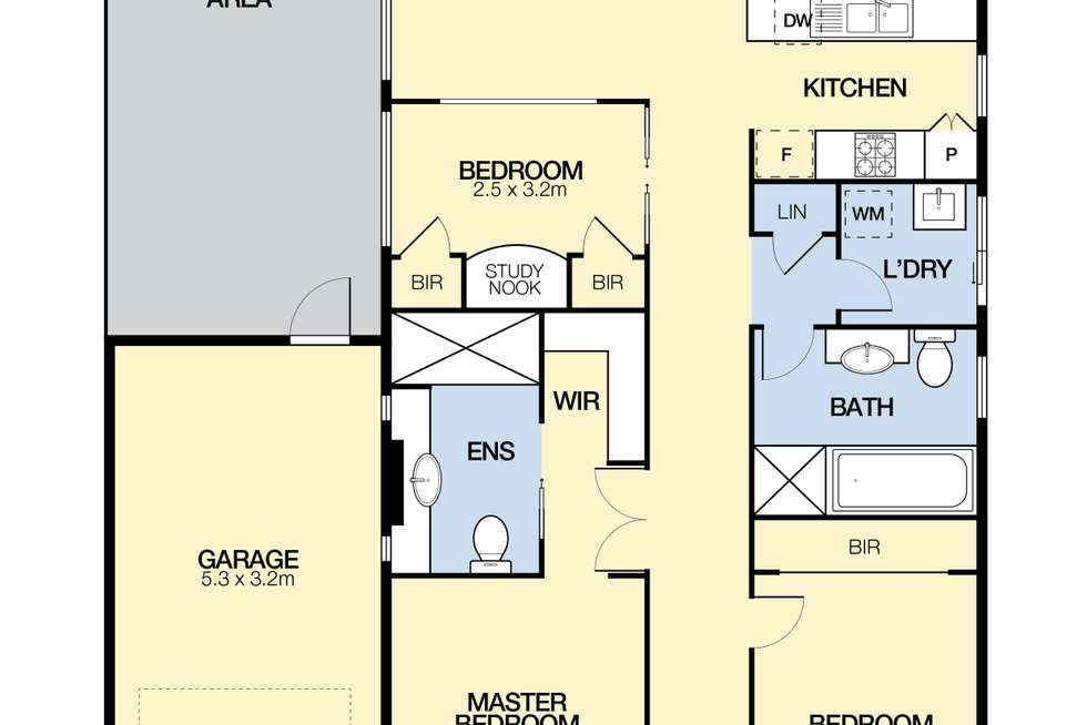 Floorplan of Homely house listing, 4 Studley Park Way, Caroline Springs VIC 3023