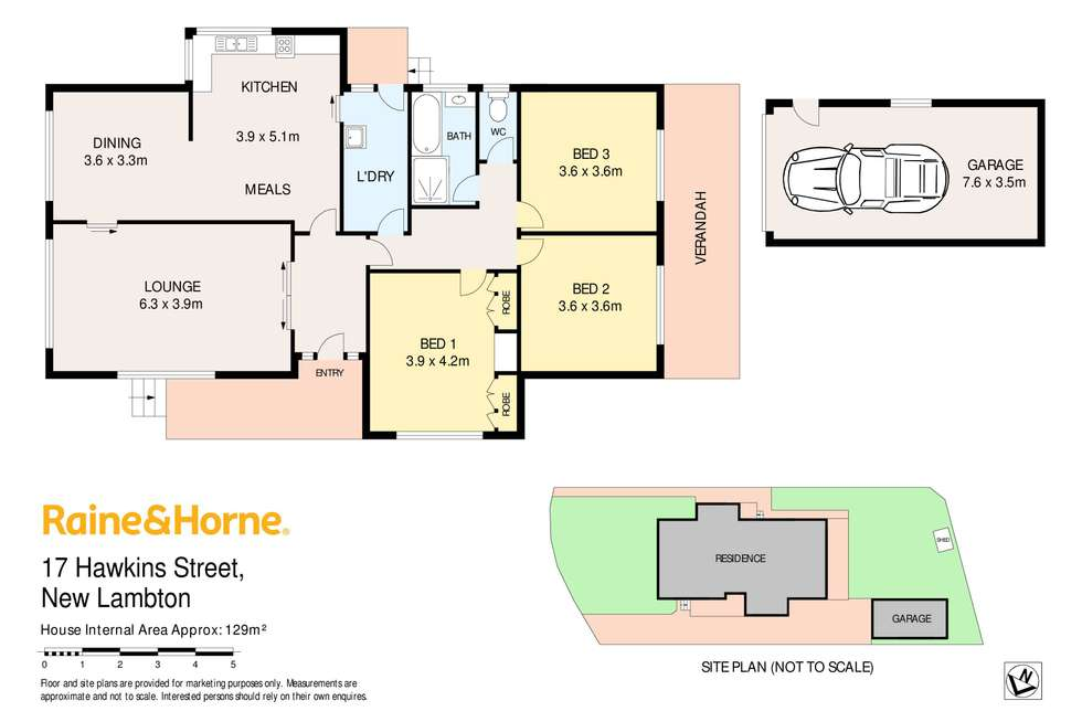 Floorplan of Homely house listing, 17 Hawkins Street, New Lambton NSW 2305