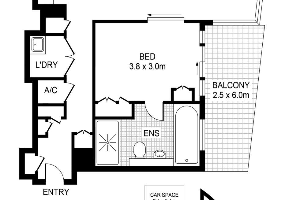 Floorplan of Homely apartment listing, 131/3 Darling Island Road, Pyrmont NSW 2009