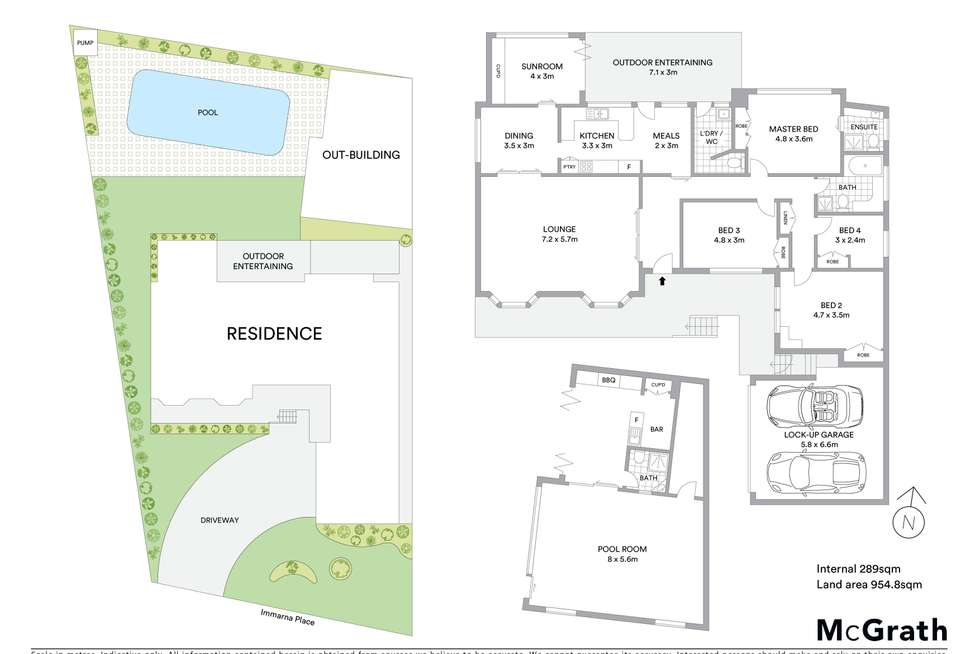 Floorplan of Homely house listing, 7 Immarna Place, Oatlands NSW 2117