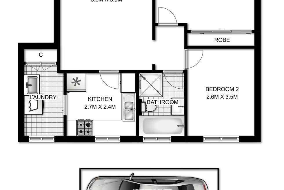 Floorplan of Homely apartment listing, 26/58 Orpington Street, Ashfield NSW 2131