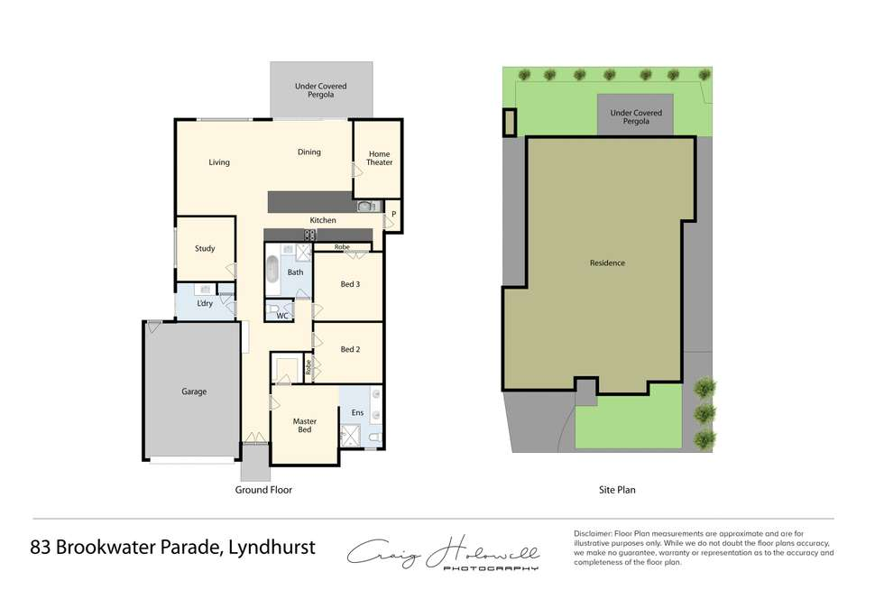 Floorplan of Homely house listing, 83 Brookwater Parade, Lyndhurst VIC 3975