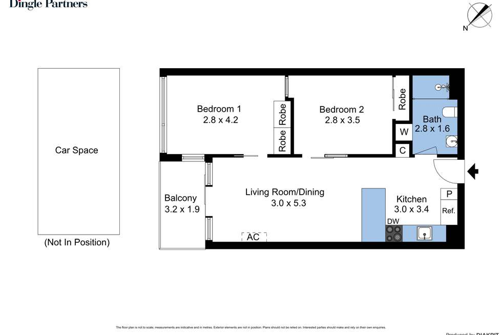 Floorplan of Homely apartment listing, 611/83 Flemington Road, North Melbourne VIC 3051
