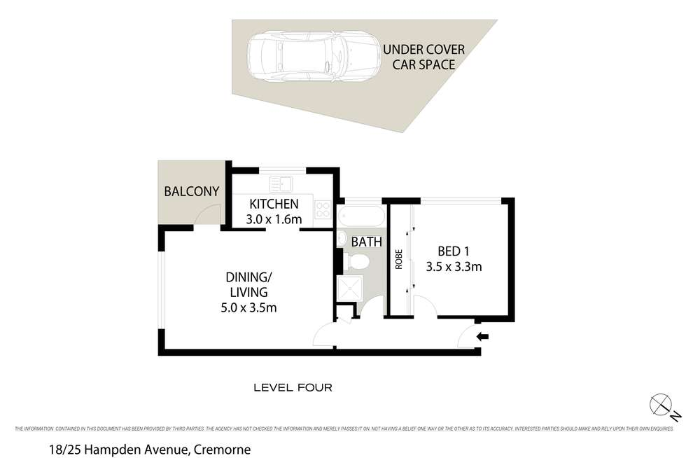 Floorplan of Homely apartment listing, 18/25 Hampden Avenue, Cremorne NSW 2090