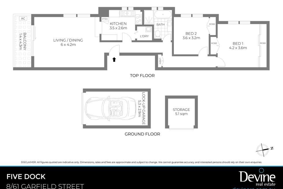 Floorplan of Homely apartment listing, 8/61 Garfield Street, Five Dock NSW 2046