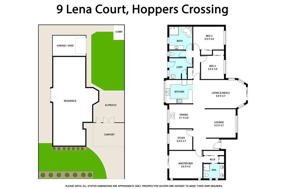 Floorplan of Homely house listing, 9 Lena Court, Hoppers Crossing VIC 3029