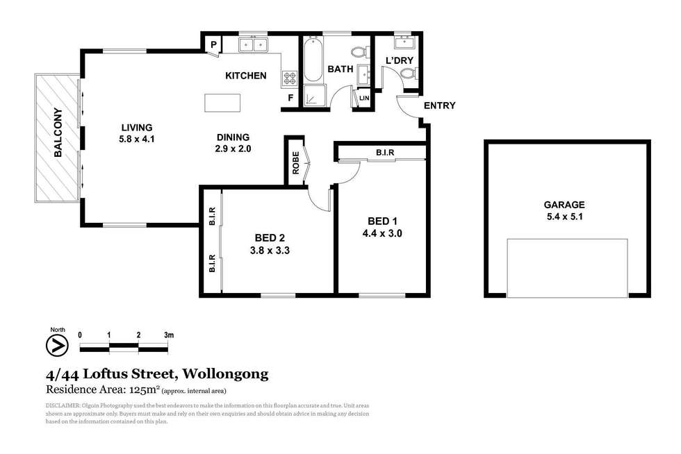 Floorplan of Homely unit listing, 4/44 Loftus Street, Wollongong NSW 2500