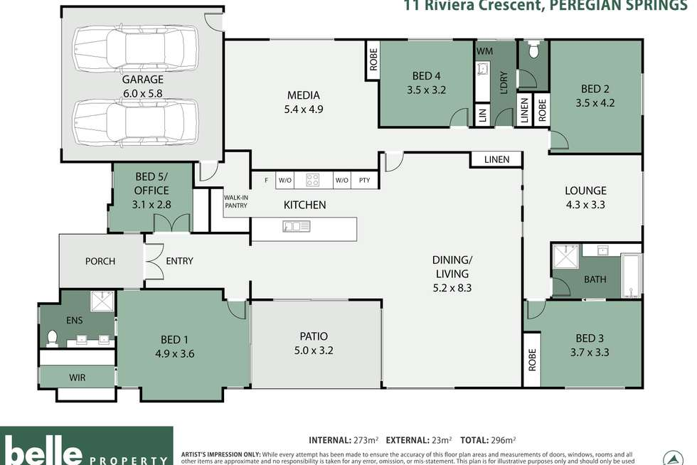 Floorplan of Homely house listing, 11 Riviera Crescent, Peregian Springs QLD 4573