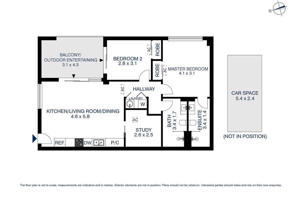 Floorplan of Homely apartment listing, 2101/1A Morton Street, Parramatta NSW 2150