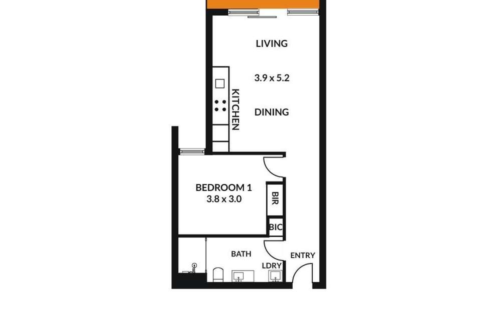 Floorplan of Homely apartment listing, 201/47 Fifth Street, Bowden SA 5007