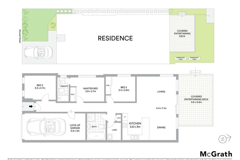 Floorplan of Homely semiDetached listing, 47A Monash Street, Wentworthville NSW 2145