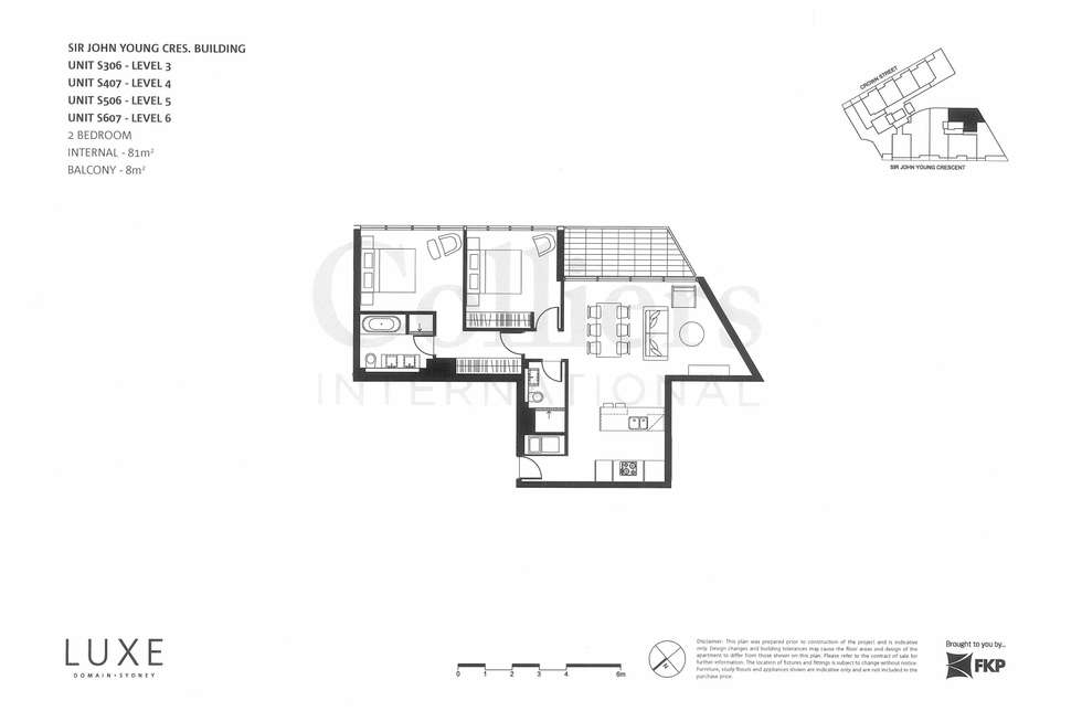 Floorplan of Homely apartment listing, 74/68 Sir John Young Crescent, Woolloomooloo NSW 2011