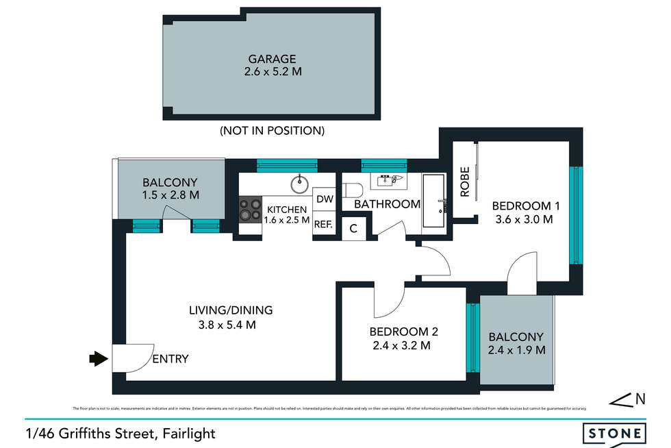 Floorplan of Homely apartment listing, 1/46 Griffiths Street, Fairlight NSW 2094