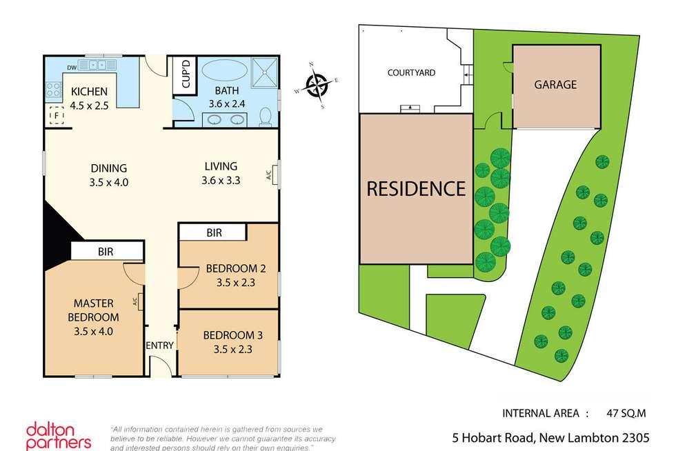 Floorplan of Homely house listing, 5 Hobart Road, New Lambton NSW 2305