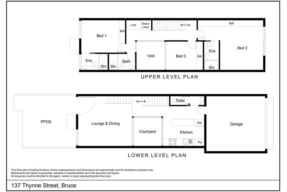 Floorplan of Homely townhouse listing, 137 Thynne Street, Bruce ACT 2617