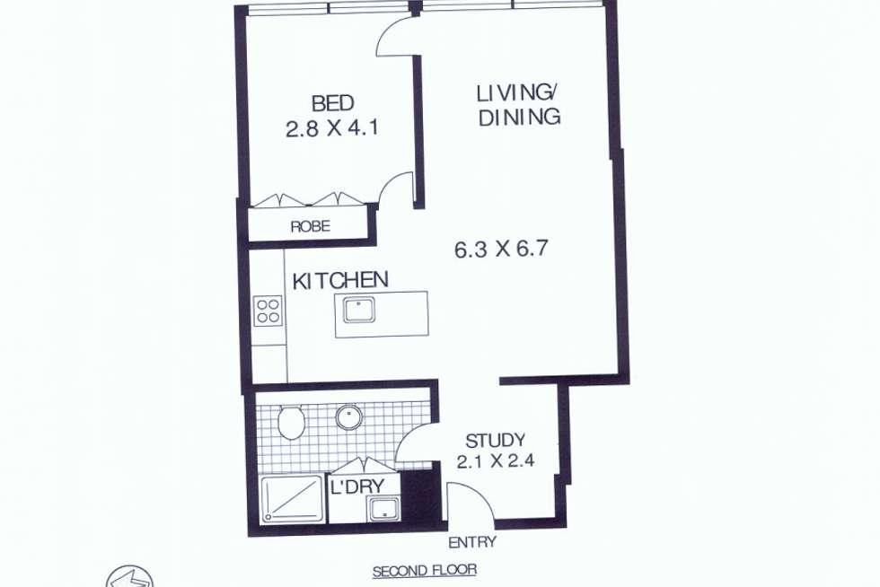 Floorplan of Homely apartment listing, 217/45-49 Shelley Street, Sydney NSW 2000