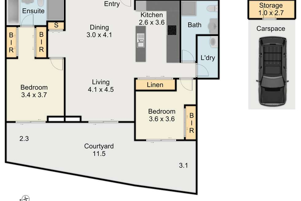 Floorplan of Homely apartment listing, G31/2 Gerbera Place, Kellyville NSW 2155