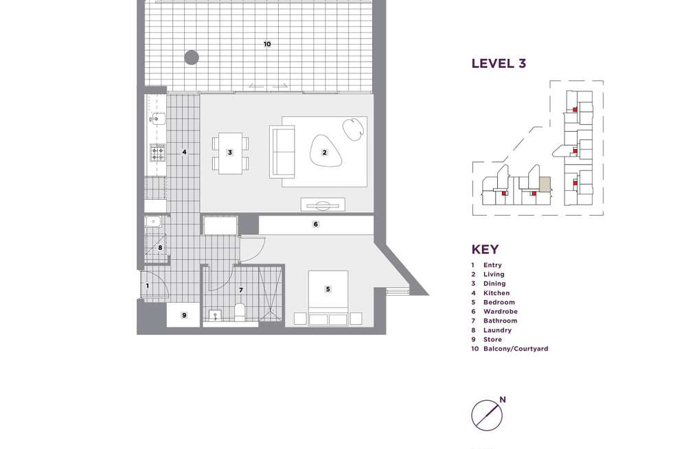 Floorplan of Homely apartment listing, 309/23 Monza Boulevard, Wentworth Point NSW 2127