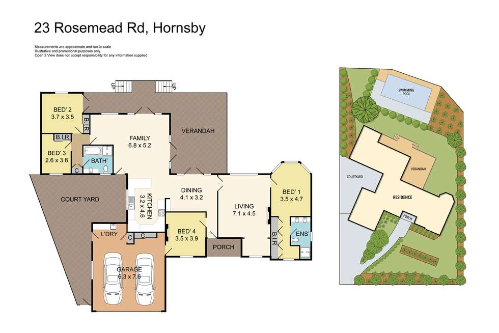 Floorplan of Homely house listing, 23 Rosemead Road, Hornsby NSW 2077