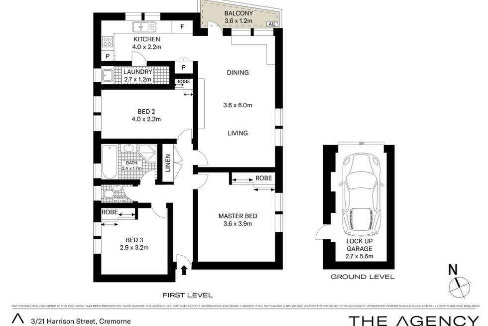 Floorplan of Homely apartment listing, 3/21 Harrison Street, Cremorne NSW 2090