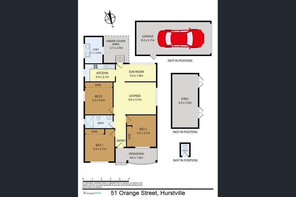 Floorplan of Homely house listing, 51 Orange Street, Hurstville NSW 2220