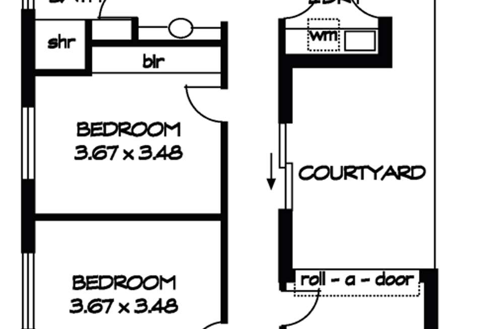 Floorplan of Homely house listing, 32A Fisher Place, Mile End SA 5031