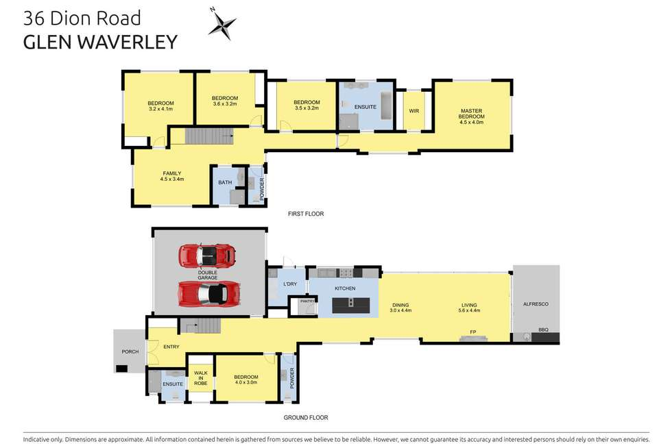 Floorplan of Homely house listing, 36 Dion Road, Glen Waverley VIC 3150