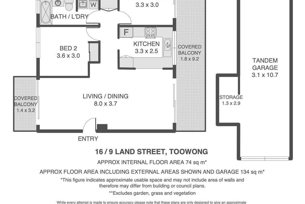 Floorplan of Homely unit listing, 16/9 Land Street, Toowong QLD 4066