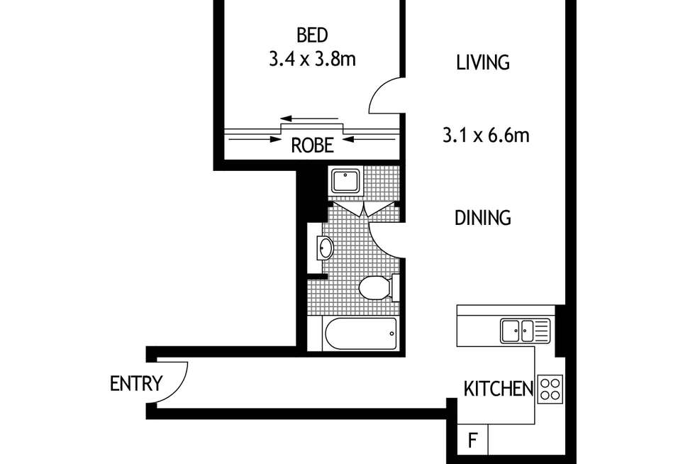 Floorplan of Homely apartment listing, 42/6 Poplar Street, Surry Hills NSW 2010