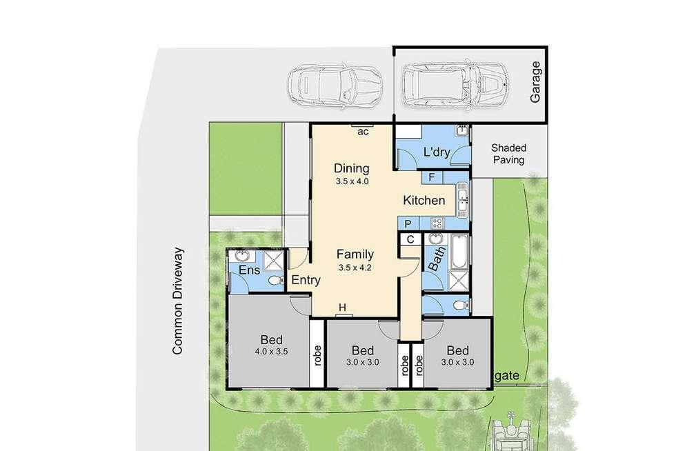 Floorplan of Homely unit listing, 2/8 Francis Street, Dromana VIC 3936