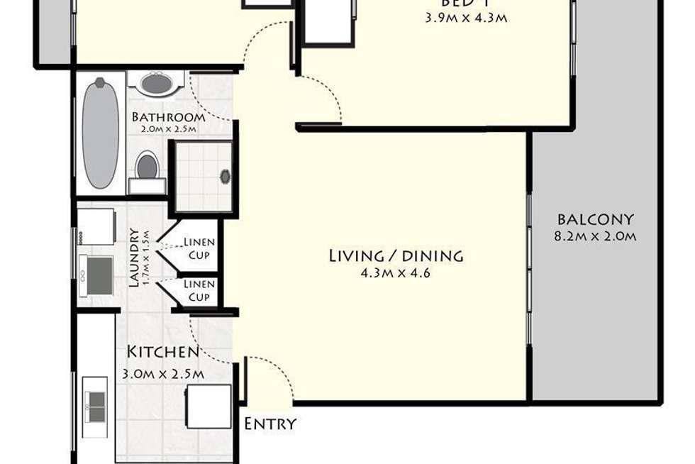 Floorplan of Homely apartment listing, 12/10 Avon Road, Dee Why NSW 2099