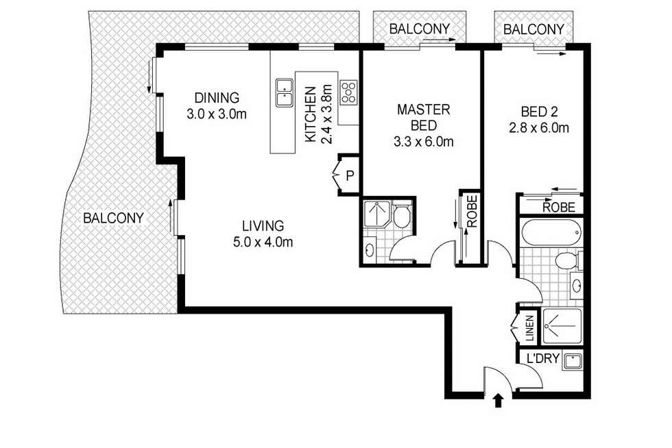 Floorplan of Homely unit listing, 26/2-6 Copnor Avenue, The Entrance NSW 2261