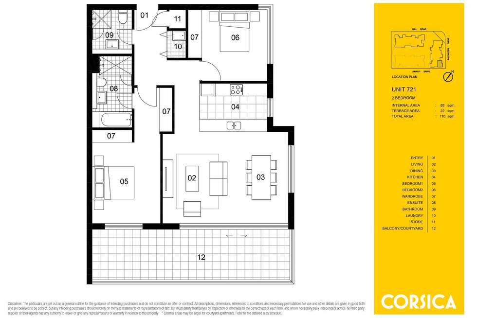Floorplan of Homely apartment listing, 721/6 Baywater Drive, Wentworth Point NSW 2127