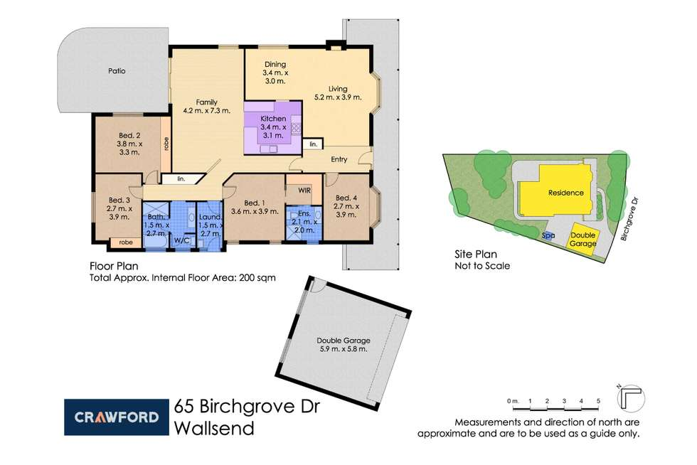 Floorplan of Homely house listing, 65 Birchgrove Drive, Wallsend NSW 2287