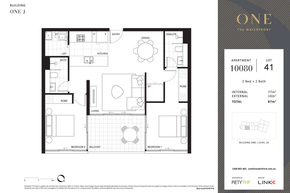 Floorplan of Homely apartment listing, J10080/17 Amalfi Drive, Wentworth Point NSW 2127