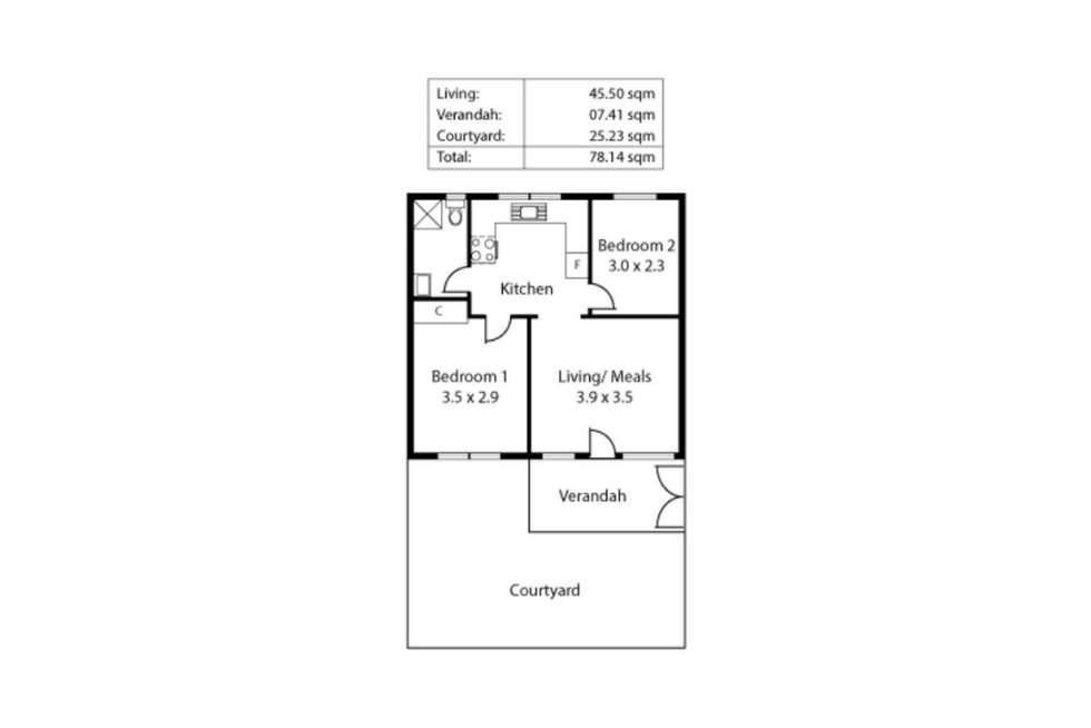 Floorplan of Homely unit listing, 10/2 Ferguson Street, Glenelg North SA 5045