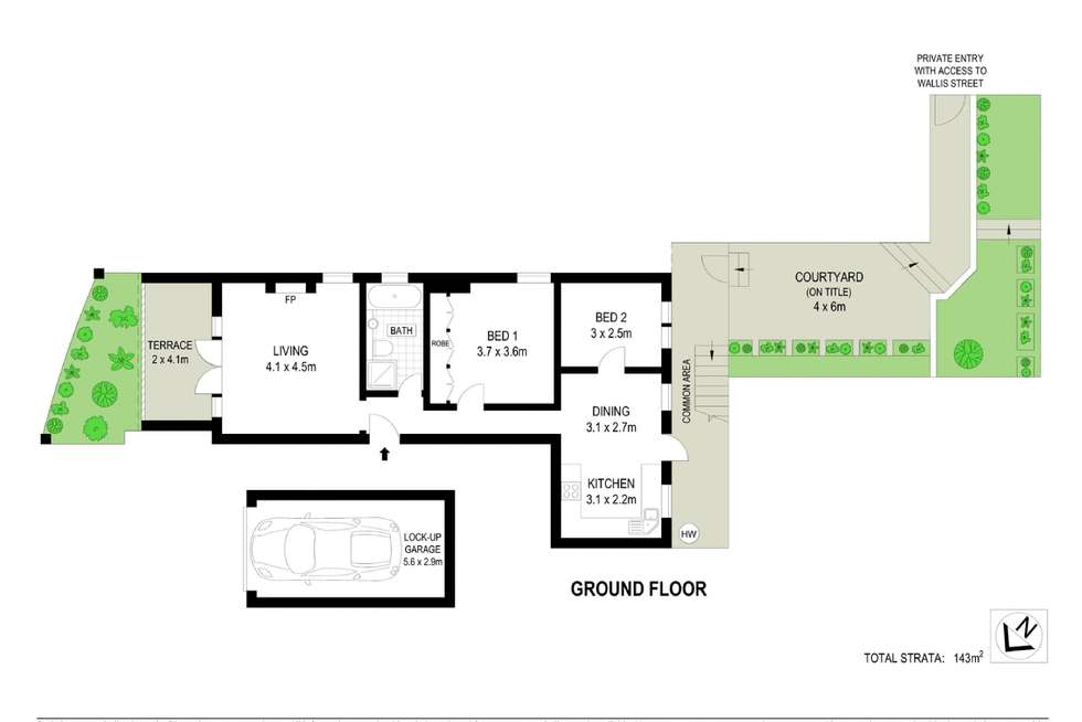 Floorplan of Homely apartment listing, 2/322 Edgecliff Road, Woollahra NSW 2025