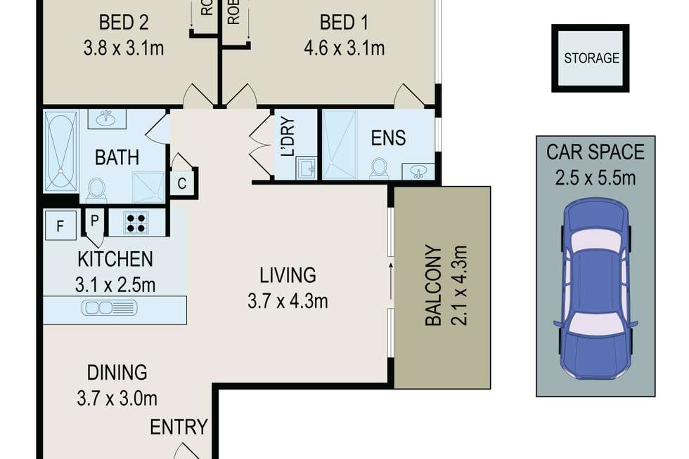 Floorplan of Homely unit listing, 17/121-127 Railway Parade, Granville NSW 2142