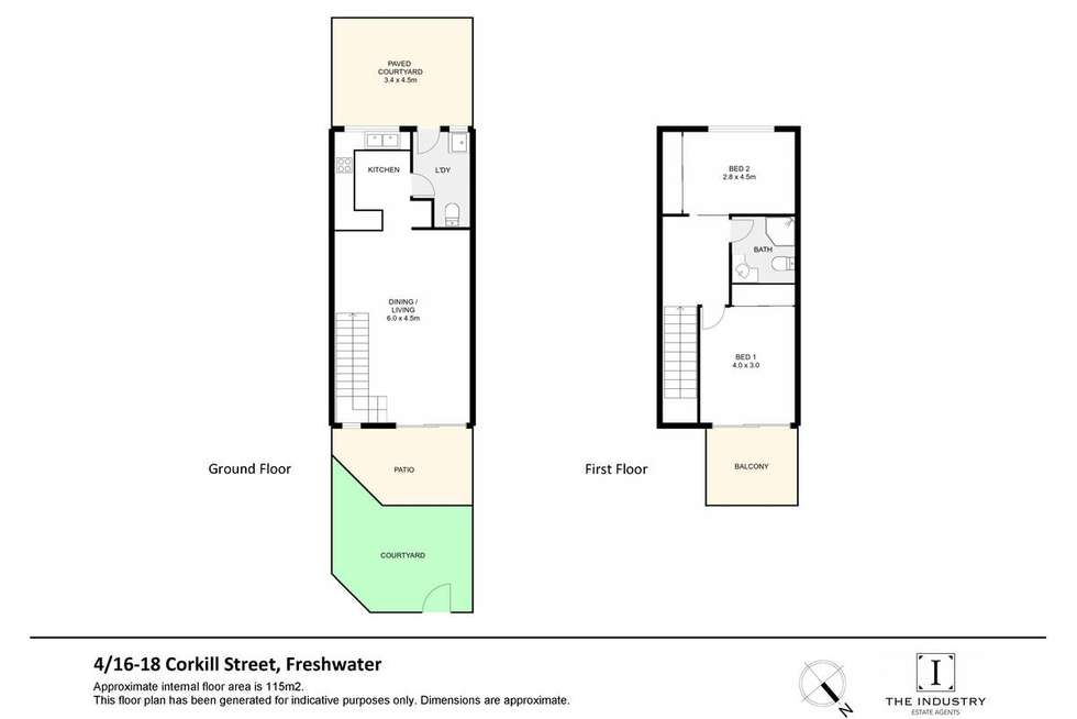 Floorplan of Homely unit listing, 4/16-18 Corkill Street, Freshwater QLD 4870