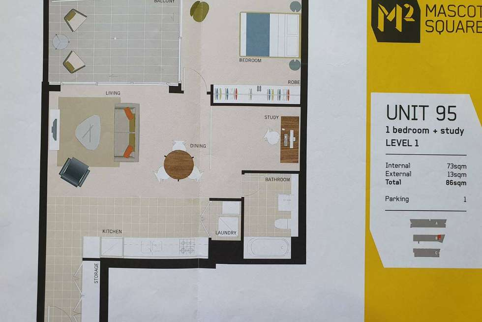 Floorplan of Homely apartment listing, 95/619-629 Gardeners Road, Mascot NSW 2020
