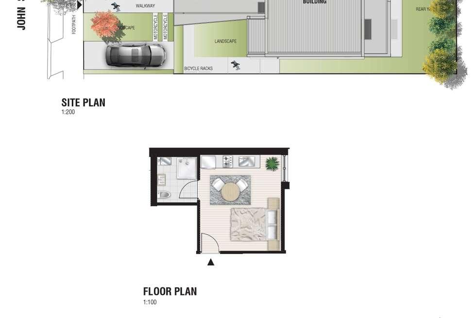 Floorplan of Homely apartment listing, 2/41 John Street, Petersham NSW 2049